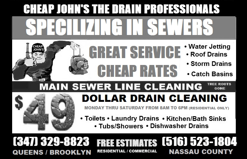 College Point $49 Drain Cleaning
