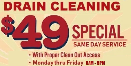 $49 Drain Cleaning