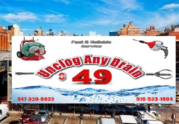 $49 Unclog Any Drain Billboard